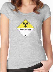 HAZMAT Class 7: Radioactive Women's Fitted Scoop T-Shirt