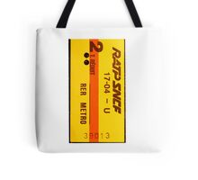 French vintage subway ticket Tote Bag