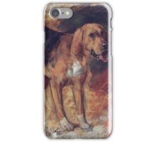 William Holman Hunt - Study Of A Bloodhound. Dog painting: cute dog, dogs, doggy, lucky, pets, wild life, animal, smile, little small, kids, nature iPhone Case/Skin