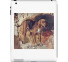 William Holman Hunt - Study Of A Bloodhound. Dog painting: cute dog, dogs, doggy, lucky, pets, wild life, animal, smile, little small, kids, nature iPad Case/Skin