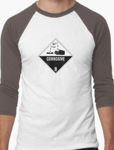 HAZMAT Class 8: Corrosive Men's Baseball ¾ T-Shirt