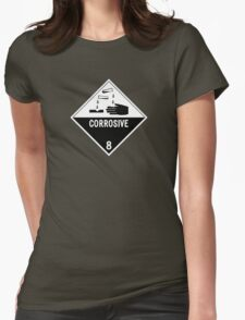 HAZMAT Class 8: Corrosive Womens Fitted T-Shirt