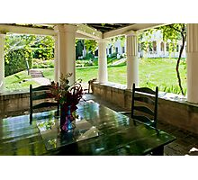 Porch at Saint Gaudens Photographic Print