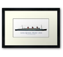 RMS Queen Mary 1936 - tony fernandes Framed Print