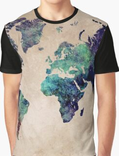 World Map cold World Graphic T-Shirt