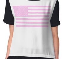 PINK, American Flag, United States of America, American flag in Pink, Stars & Stripes in Pink, America, USA Chiffon Top