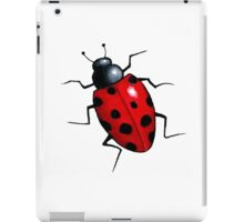 Big Ladybug, Ladybird, Bright Red Insect, Wildlife Art iPad Case/Skin