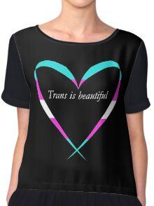 Trans Is Beautiful Heart Chiffon Top