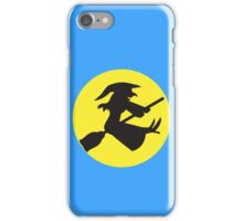 Witch on a broomstick iPhone Case/Skin