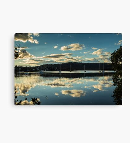 Clouds on Brisbane Water Canvas Print