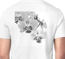 Homescape - grey and white orchid  Unisex T-Shirt