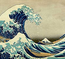 Hokusai, The Great Wave off Kanagawa, Japan, Japanese, Wood block, print by TOM HILL - Designer