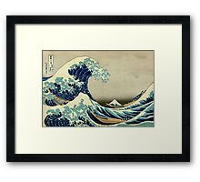 Hokusai, The Great Wave off Kanagawa, Japan, Japanese, Wood block, print Framed Print