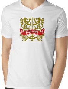 The Squire Coat-of-Arms Mens V-Neck T-Shirt