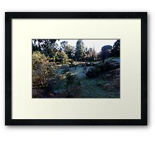 Frosty morning, Hill End. Framed Print
