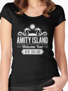 Amity Island Women's Fitted Scoop T-Shirt