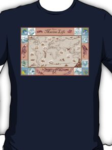 Ancient Marine Life map T-Shirt
