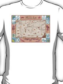 Ancient Marine Life map T-Shirt