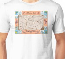 Ancient Marine Life map Unisex T-Shirt