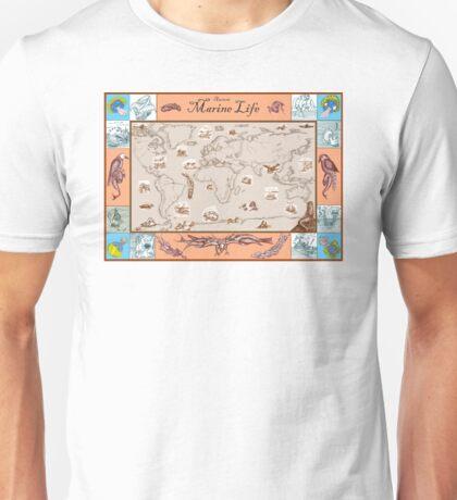 Ancient Marine Life map Unisex T-Shirt