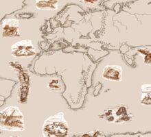 Ancient Marine Life map Sticker