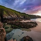 Plemont at sun down ~ By Marc Whitehead by jerseygallery