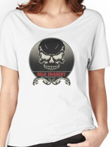 Silk Skull - Round Women's Relaxed Fit T-Shirt
