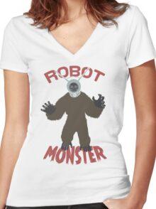 Robot Monster! Women's Fitted V-Neck T-Shirt