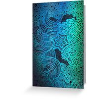 Hand draw Magical Trippy pattern Greeting Card