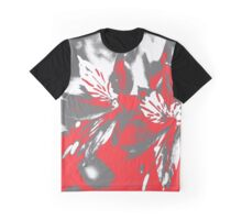 Homescape - grey and red orchid 2 Graphic T-Shirt