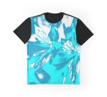 Homescape - blue and white orchid 2 Graphic T-Shirt