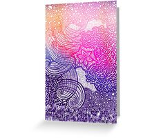 Dreamy hand draw pattern   Greeting Card
