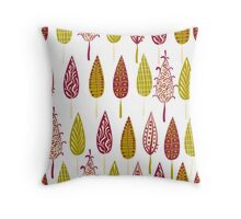 seamless backgrounds floral  Throw Pillow