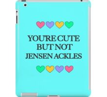 Cute but not Jensen Ackles - liferuiner 04 iPad Case/Skin