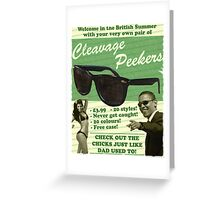 Cleavage Peekers Greeting Card