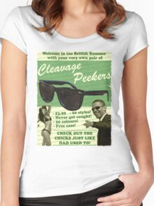 Cleavage Peekers Women's Fitted Scoop T-Shirt
