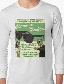 Cleavage Peekers Long Sleeve T-Shirt