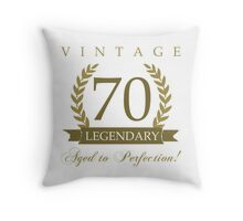 Legendary 70th Birthday Throw Pillow
