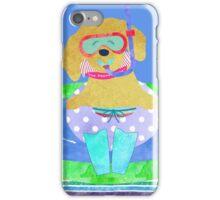 Whimsical Preppy Golden Retriever Summer Fun iPhone Case/Skin
