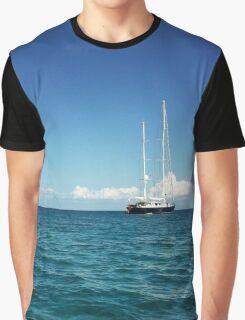 Sailing Ship on the Mediterranean Sea Graphic T-Shirt