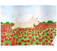 Scottie Dog 'Poppy Fields' Poster