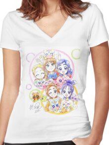 Precure Splash Star Women's Fitted V-Neck T-Shirt