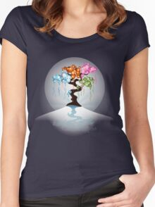 The Four Seasons Bubble Tree - Tee Women's Fitted Scoop T-Shirt