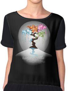 The Four Seasons Bubble Tree - Tee Chiffon Top