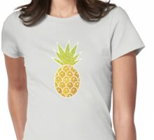 Glitter Tropical Pineapple with Stripes and Dots Womens Fitted T-Shirt