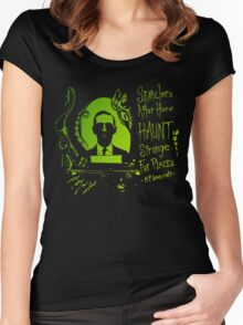 Howard Phillips Lovecraft  Women's Fitted Scoop T-Shirt