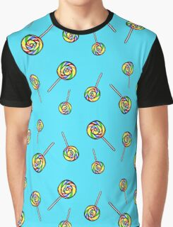 Rainbow Lollipop  Graphic T-Shirt