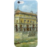 William Merritt Chase - Florence 1907. Urban landscape: city view, streets, building, house, Florence, cityscape, architecture, construction, travel , panorama, buildings iPhone Case/Skin