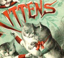 Ancient Three Little Kittens ART Sticker