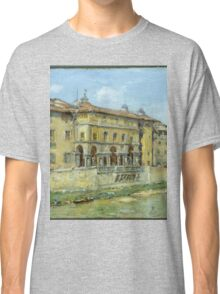 William Merritt Chase - Florence 1907. Urban landscape: city view, streets, building, house, Florence, cityscape, architecture, construction, travel , panorama, buildings Classic T-Shirt